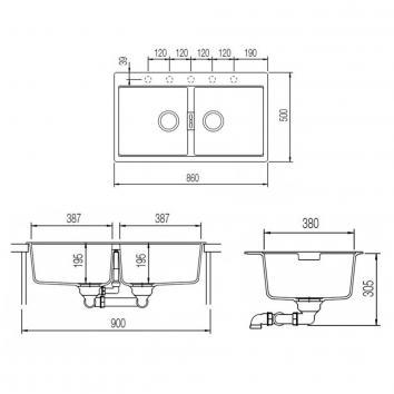 ABEY10150 N200B Abey Undermount Sinks Spec sheet