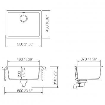ABEY10274  QN-100B Abey Single Bowl Sinks Spec sheet