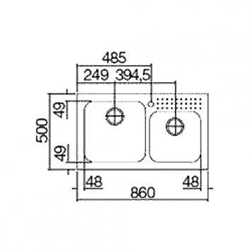 ABEY10600 SE180 Abey Single + Utility Bowl Sinks Spec sheet