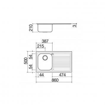 ABEY11637 BF100R Abey Single Bowl Sinks Spec sheet