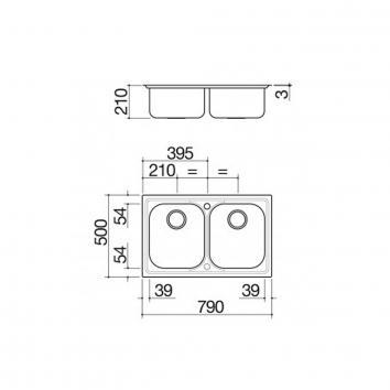 ABEY11639 BF200 Abey Overmount Sinks Spec sheet