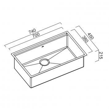 ABEY12365 PZ700 Abey  Sinks Spec sheet