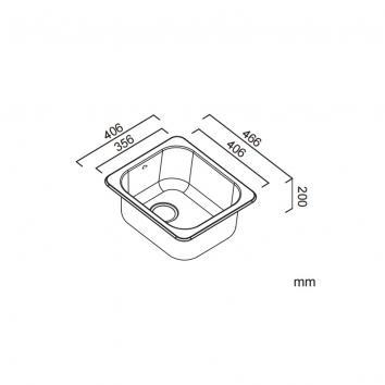ABEY12550 Q100 Abey Single Bowl Sinks Spec sheet