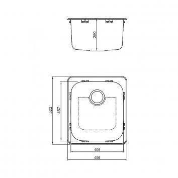 ABEY14450 LTS45C Abey  Tubs & Cabinets Spec sheet