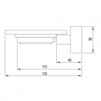ABEY22880 SSD Abey Soap Holder Accessories Spec sheet