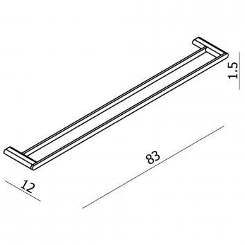 ARGENT13630 AR33003 Argent Double Towel Rail Accessories Spec sheet