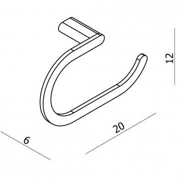 ARGENT1365 AR33038 Argent Hand Towel Ring / Rail Accessories Spec sheet