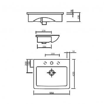ARGENT2330 FC14TUL01SDL Argent Drop In Basins Basins Spec sheet