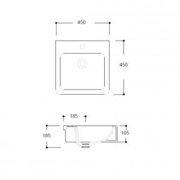ARGENT2365 FC09MUL07 Argent Above Counter / Vessel Basins Spec sheet