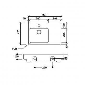GRP-ARGENT2380  Argent Above Counter / Vessel Basins Spec sheet