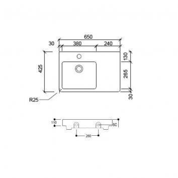 ARGENT2395 FC14MUL01SDL Argent Above Counter / Vessel Basins Spec sheet