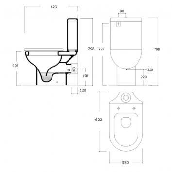 ARGENT2435 KO041001S6BB Argent Close Coupled Toilets Spec sheet
