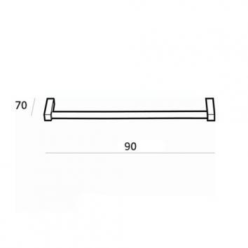 ARGENT4260 38.10.90.002 Pomd'or Single Towel Rail Accessories Spec sheet