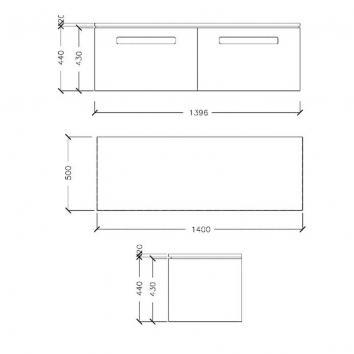ARGENT4865 UN10SW1401S1UB Argent Wall Hung Vanities Furniture Spec sheet