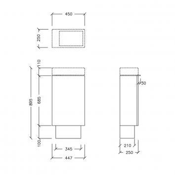 ARGENT5170 ED10SF0401 Argent Floor Mounted Vanities Furniture Spec sheet