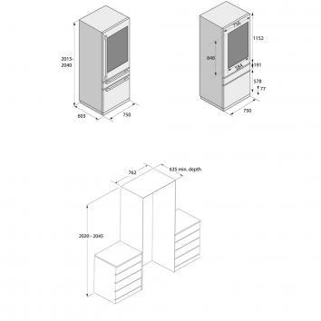 ASKO2505 RWF2826FI Asko Wine Refrigeration Refrigeration Spec sheet