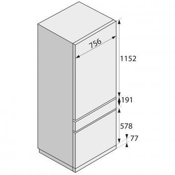ASKO2510 DPRF2826S Asko  Refrigeration Spec sheet