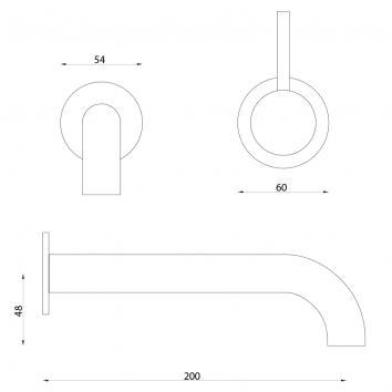 ASTRAWALK7836 A69.06.48p Astra Walker Wall Top Assemblies Tapware Spec sheet