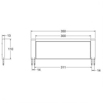 AVENIR1030 ARGS350 Avenir Shower Shelves Accessories Spec sheet