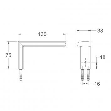 AVENIR1400  XYSTRH-LF Avenir Toilet Paper Holder Accessories Spec sheet