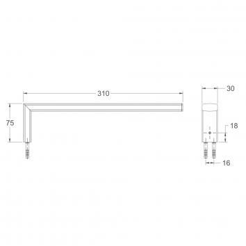 AVENIR1416 XYHTR-RF Avenir Hand Towel Ring / Rail Accessories Spec sheet
