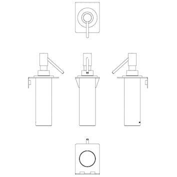 ARGENT4165 36.78.01.002 Pomd'or Soap Dispenser Accessories Spec sheet