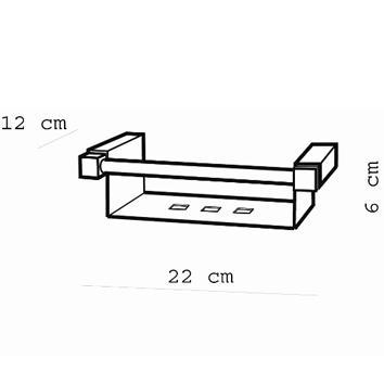 ARGENT4305 38.60.10.002 Pomd'or Soap Holder Accessories Spec sheet