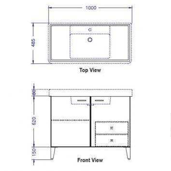 ARGENT5060 C10SF1001 Argent Floor Mounted Vanities Furniture Spec sheet