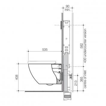 CAROMA3014 740500W Caroma Wall Hung Toilets Spec sheet