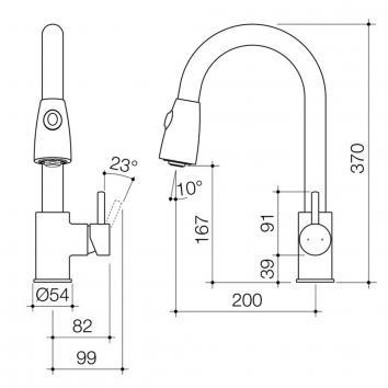 CAROMATAP5055 91102C4A Caroma Mixers Tapware Spec sheet