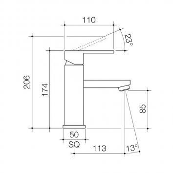CAROMATAP5600 90700C6A Caroma Mixers Tapware Spec sheet