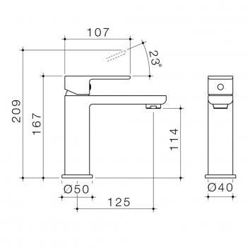 CAROMATAP9753 68181C5A Caroma Mixers Tapware Spec sheet