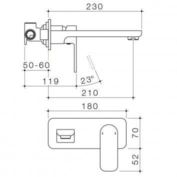 CAROMATAP9756 68186C5A Caroma Mixers Tapware Spec sheet