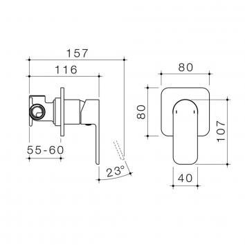 CAROMATAP9757 68184C Caroma Mixers Tapware Spec sheet