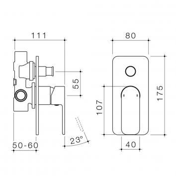 CAROMATAP9758 68185C Caroma Mixers Tapware Spec sheet