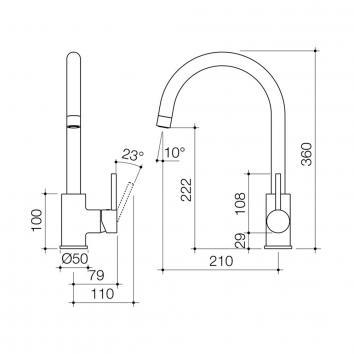 DORF1850 6595.905A Dorf Mixers Tapware Spec sheet