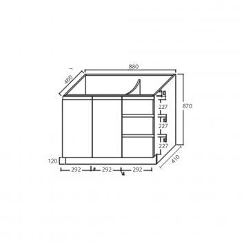 FIENZA16140 TCL90CR Fienza Floor Mounted Vanities Vanities Spec sheet