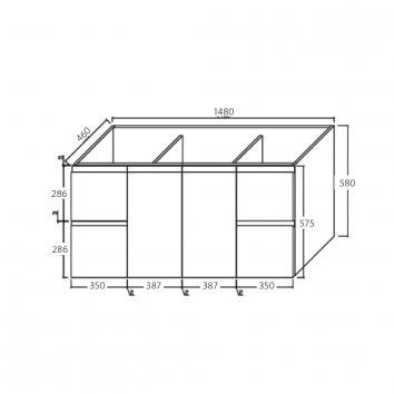 FIENZA16306 TCL150FD Fienza Wall Hung Vanities Vanities Spec sheet