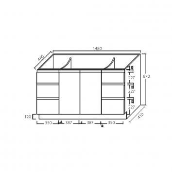 FIENZA16325 TCL150CS Fienza Floor Mounted Vanities Vanities Spec sheet