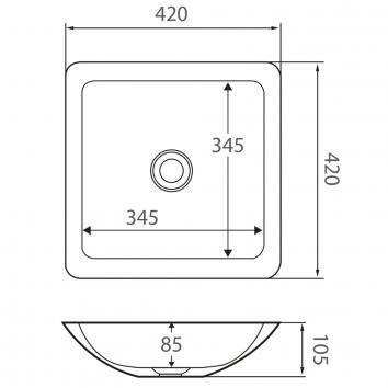 FIENZA33015 CBS02 Fienza Above Counter / Vessel Basins Spec sheet