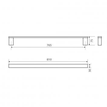 FIENZA45604  89001-810 Fienza Single Towel Rail Accessories Spec sheet