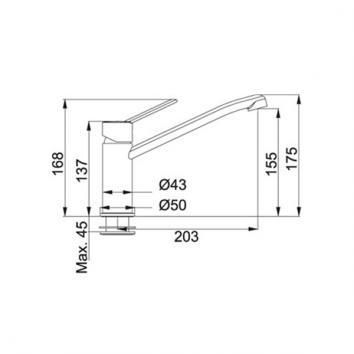 FRANKE2200 115.0189.199 Franke Mixers Tapware Spec sheet