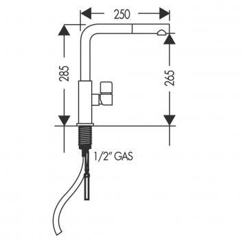 FRANKE2710 TA621B Franke Mixers Tapware Spec sheet