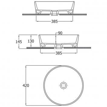 FIENZA50340 606000W Fienza Above Counter / Vessel Basins Spec sheet