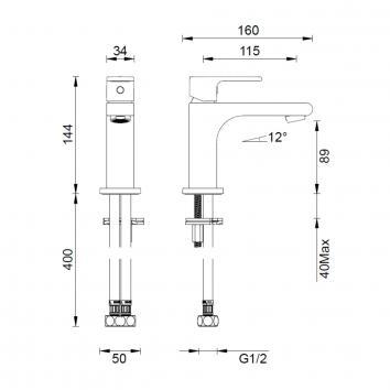 GARETH1035 1B1 Abey Mixers Tapware Spec sheet