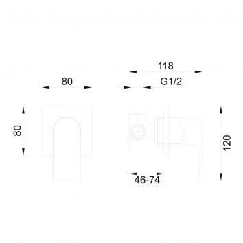 GARETH1050 1SH-EXT Abey Mixers Tapware Spec sheet