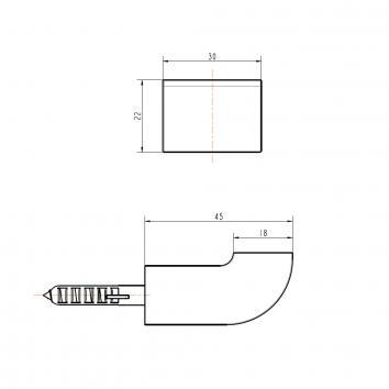 GARETH1115 LRH Abey Robe Hook Accessories Spec sheet