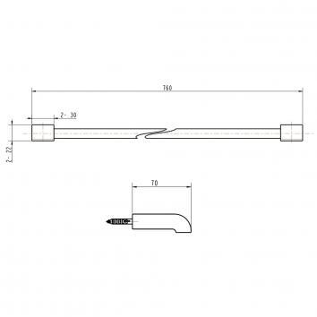 GARETH1120 LSTR Abey Single Towel Rail Accessories Spec sheet