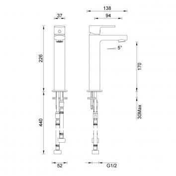 GARETH1530 2B2 Abey Mixers Tapware Spec sheet