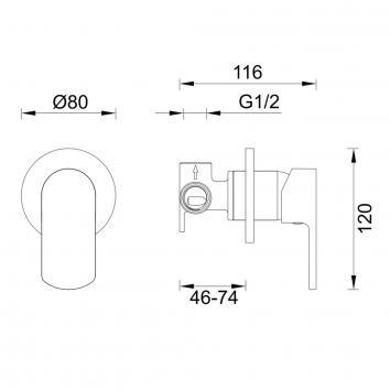 GARETH1535 2SH-EXT Abey Mixers Tapware Spec sheet